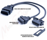 OBDII T-Harness 16-Pin/16 Wire Female to Dual Male