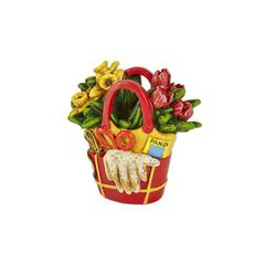 Miniature Merriment Red Flower Tote