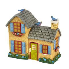 Miniature Merriment Yellow Solar Fairy House