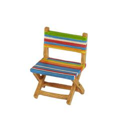 Miniature Merriment Multicolored Stripe Beach Chair