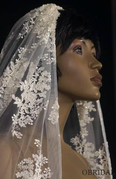 One of a kind all lace wedding veil