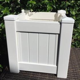 Hamptons Style Planter Boxes Square White Panelled