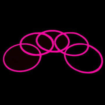 glow necklace pink