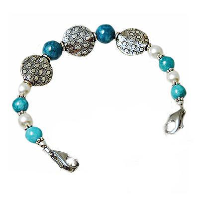 Pearls Interchangeable medical bracelet beaded strand