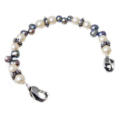 Pearls Interchangeable medical bracelet beaded strand