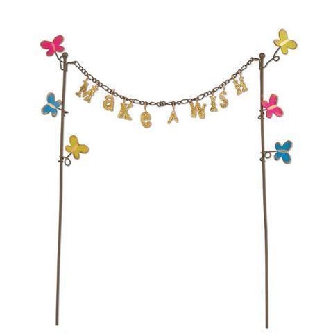 Miniature Glitter Wish Banner Gypsy Garden