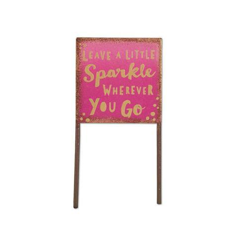 Miniature Pink Sparkle Sign Gypsy Garden