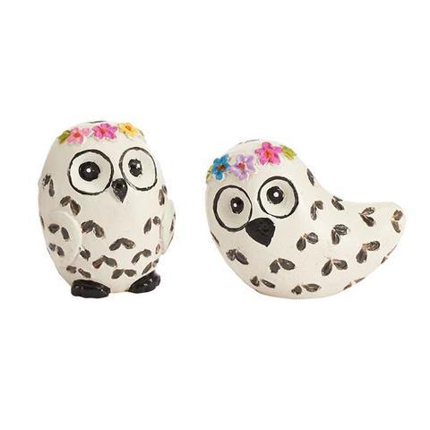 Miniature Snow Owls Gypsy Garden