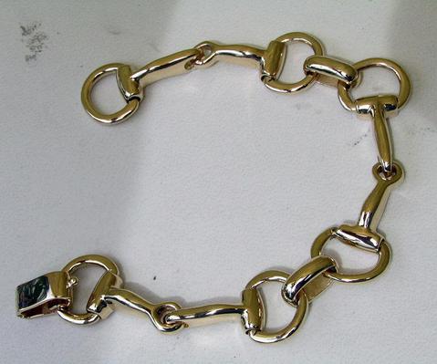 Solid 14K gold Bit bracelet