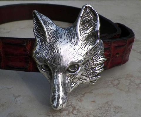 fox belt buckle