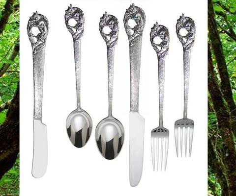 Sterling silver fox silverware
