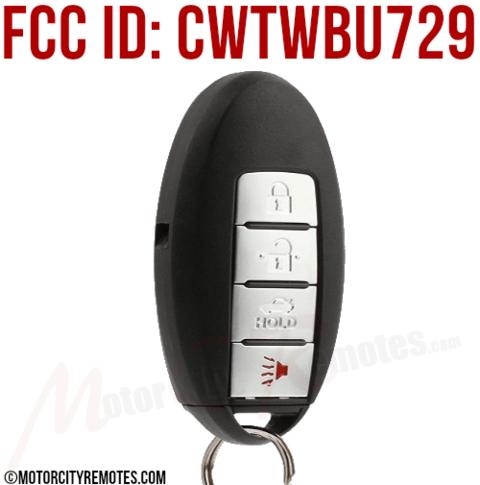 Nissan Proximity Keyless Entry Remote Key FOB w/Twist Start Ignition