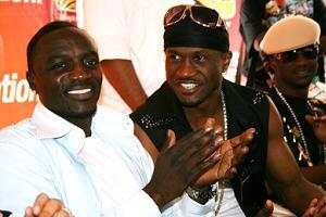 Akon and P-Square in Kampala