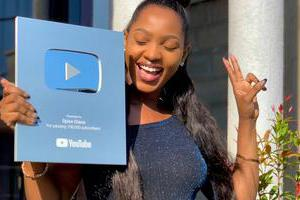 Spice Diana wins an award from YouTube