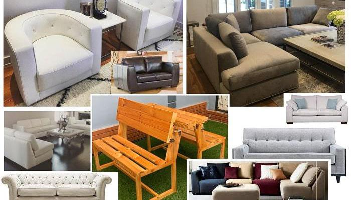 Fabric sofas, leather and out door furniture