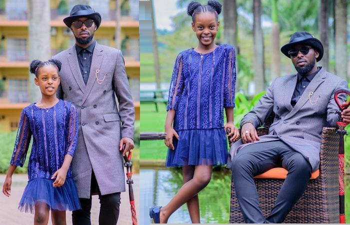 Eddy Kenzo and one of his daughters