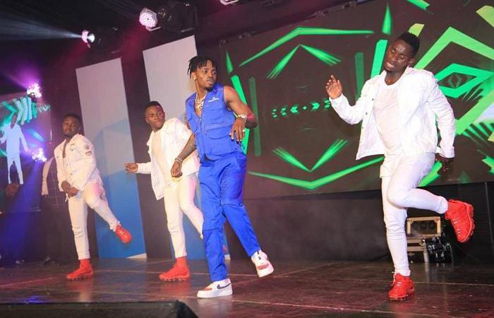 Diamond Platnumz performing in Kampala