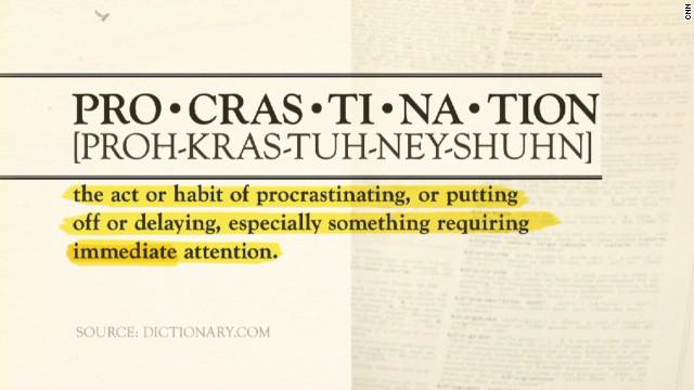 Procrastination and unplanned moments in time