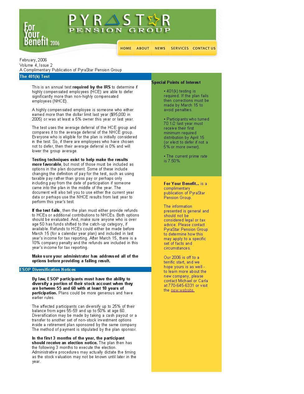 ESOP Diversification Notices