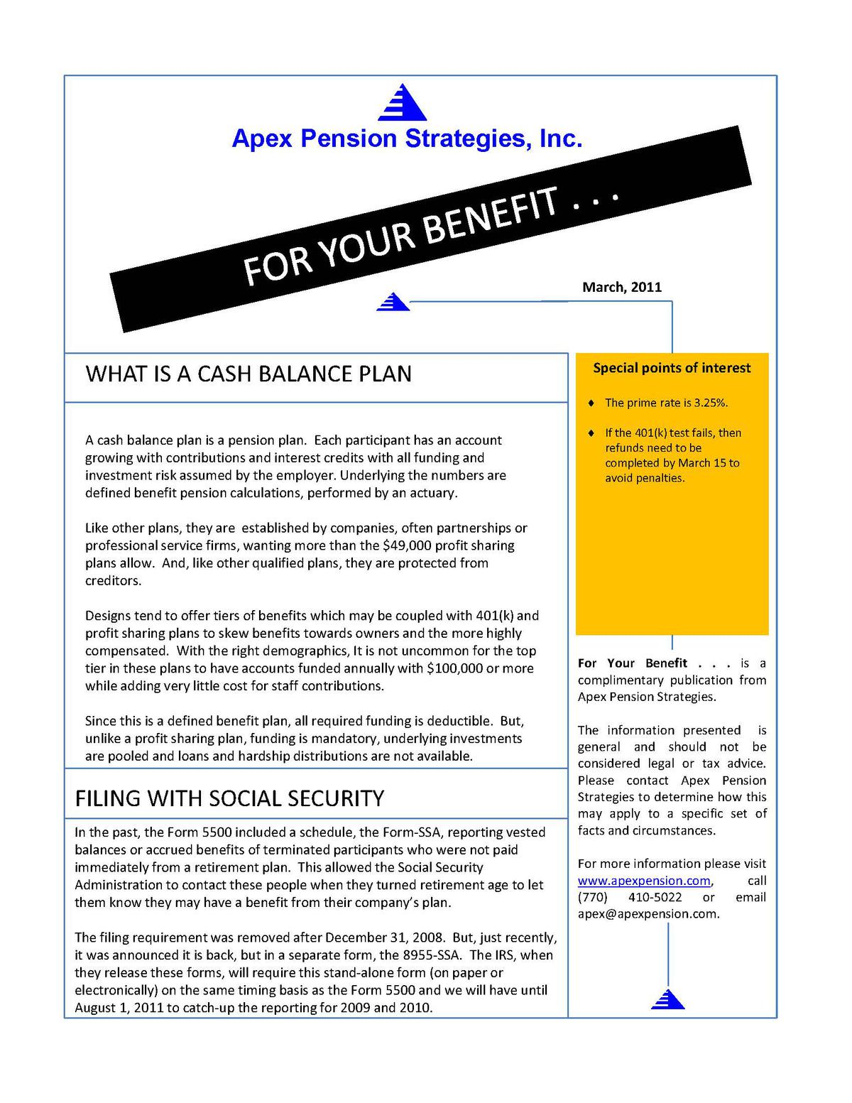 Filing With Social Security (8955-ssa)