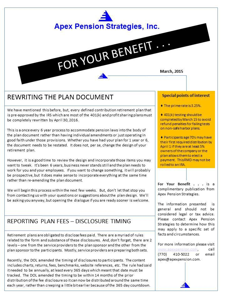 Reporting Plan Fees - Disclosure Training