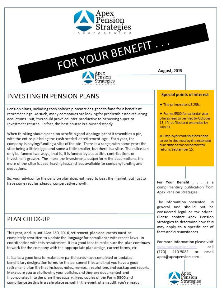 Investing in Pension Plans