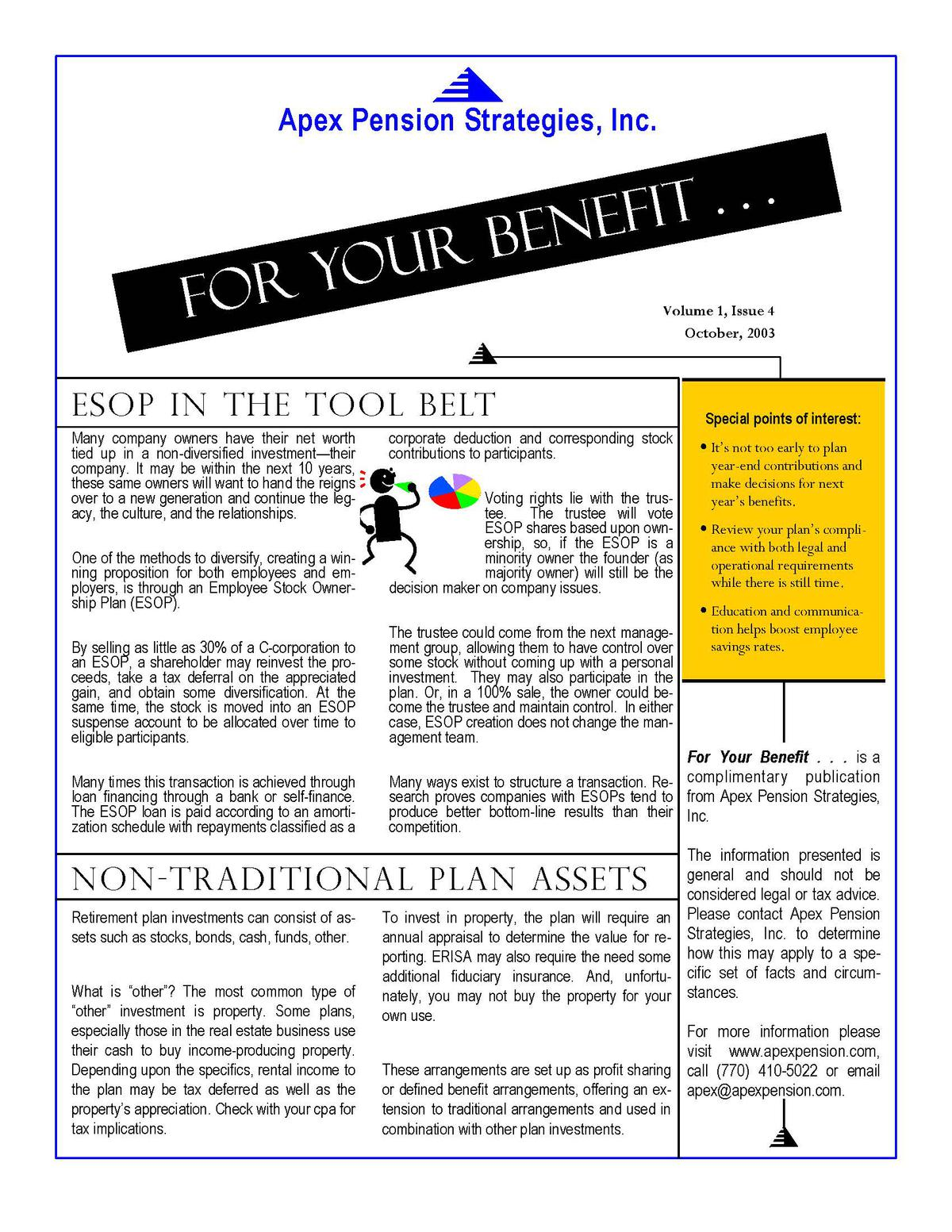 Non-Traditional Plan Assets