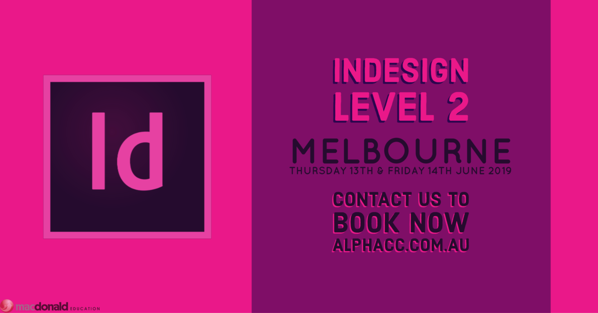 The next step to increase your skills in InDesign