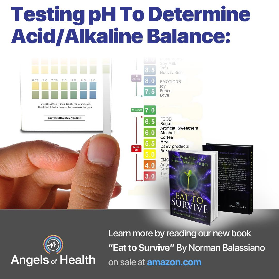 Tasting Ph to determine acid/alkaline balance