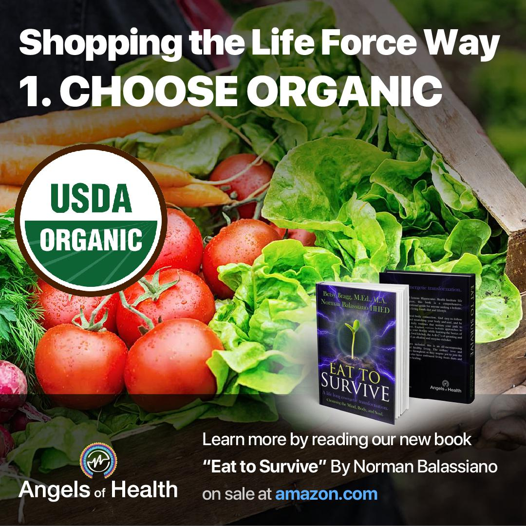 Shopping the Life Force Way: 1.Choose Organic