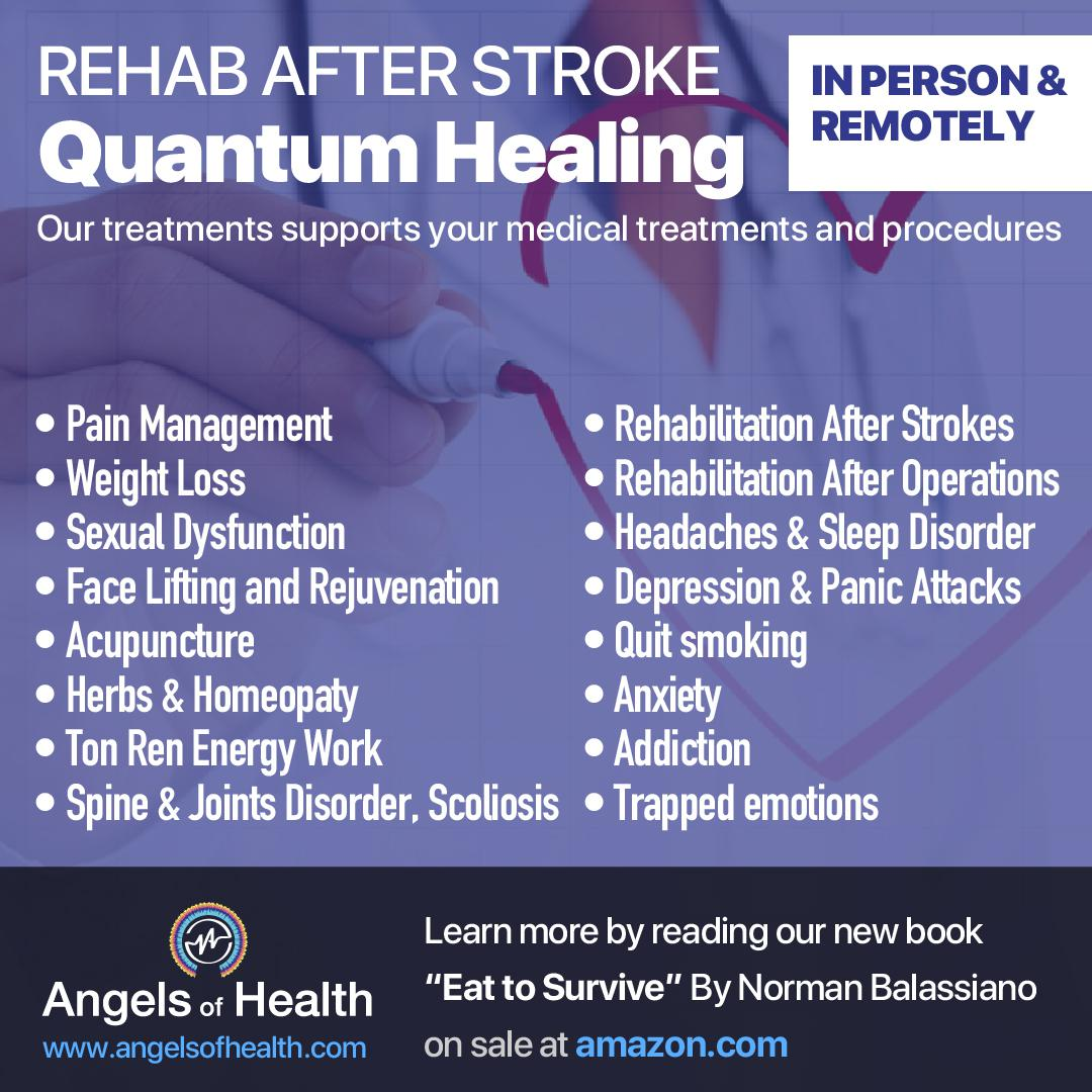 Rehab after stroke with quantum healing