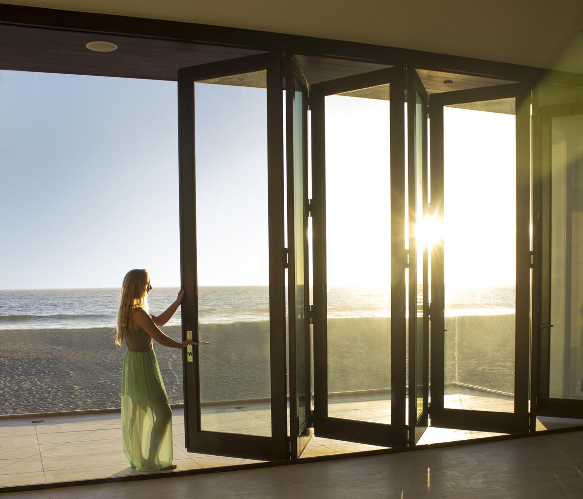 Create an Outdoor Feeling, Indoors, with Large Glass Patio Doors