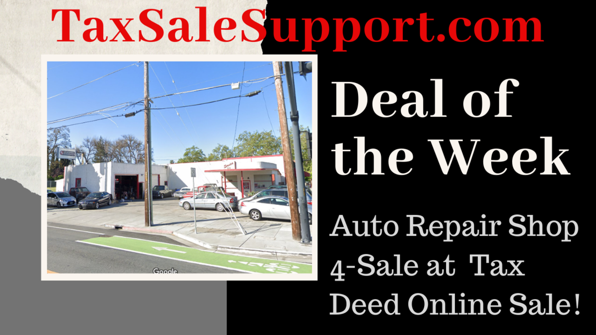 California Tax Deeds For Sale: Deal of the Week