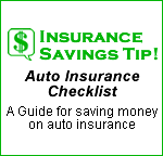 Auto Insurance Checklist - Insurance Savings Tip!