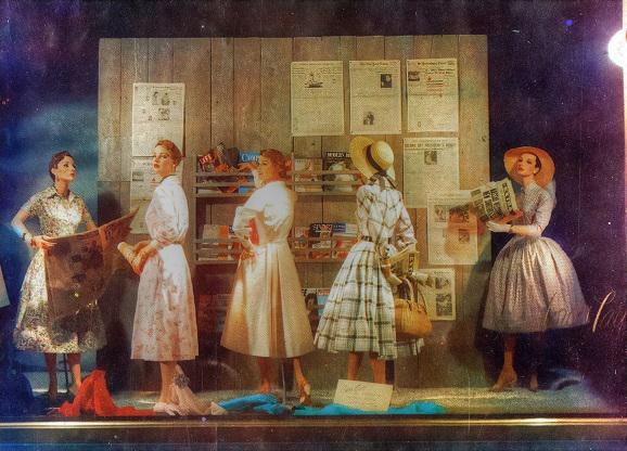 Vintage Photo of Display Window NYC 1950s