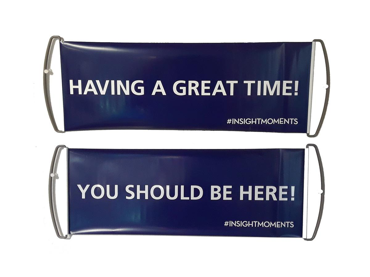 New Mini Rectractable Hand Banners