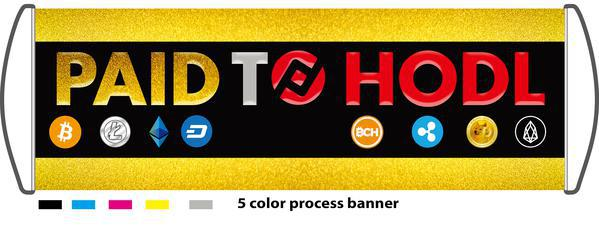 Retractable Hand Banner 5 Color Process Banner