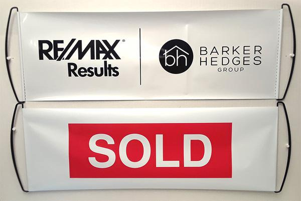 Real Estate Sold Sign Retractable Hand Banner