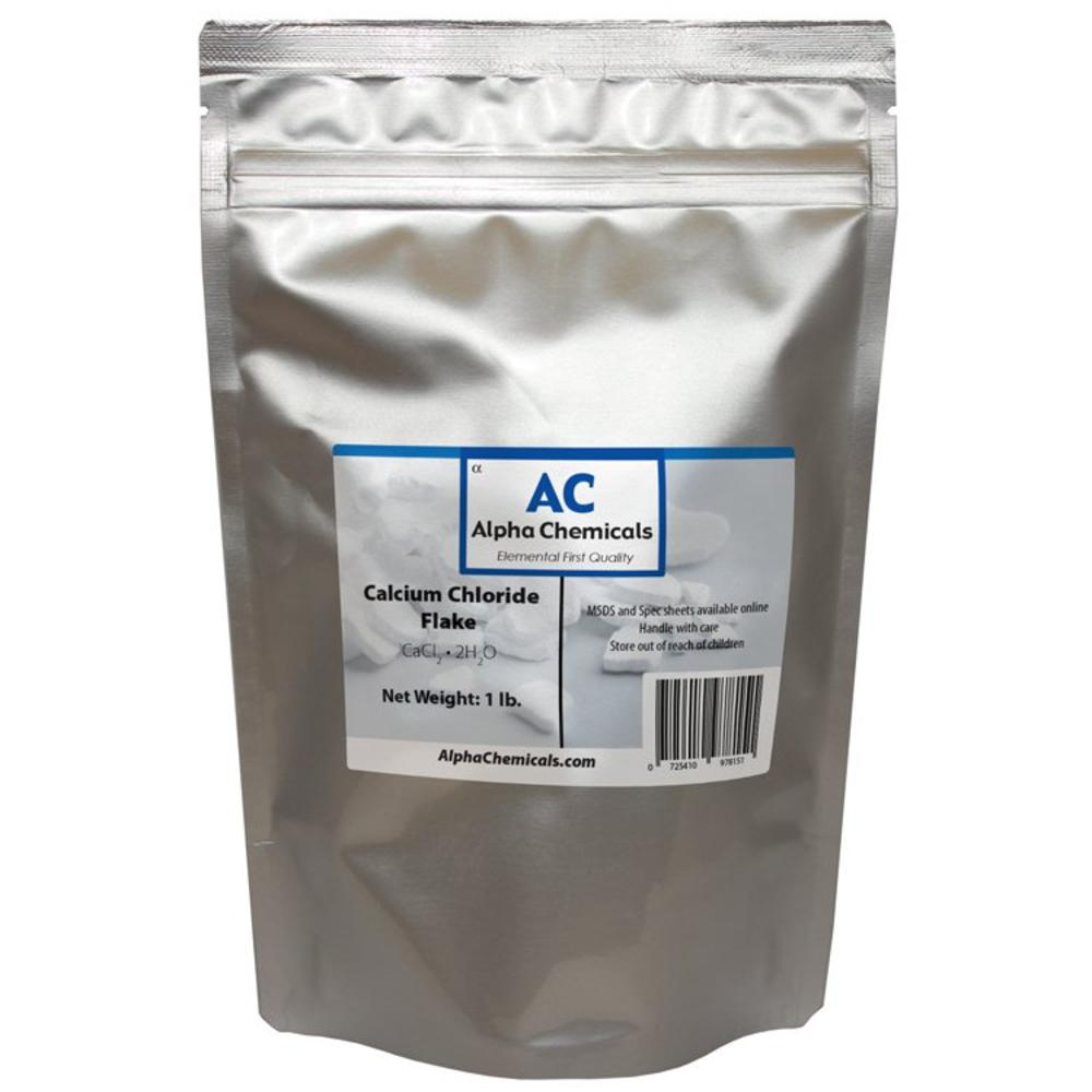 1 Pound - Calcium Chloride Dihydrate - Flake
