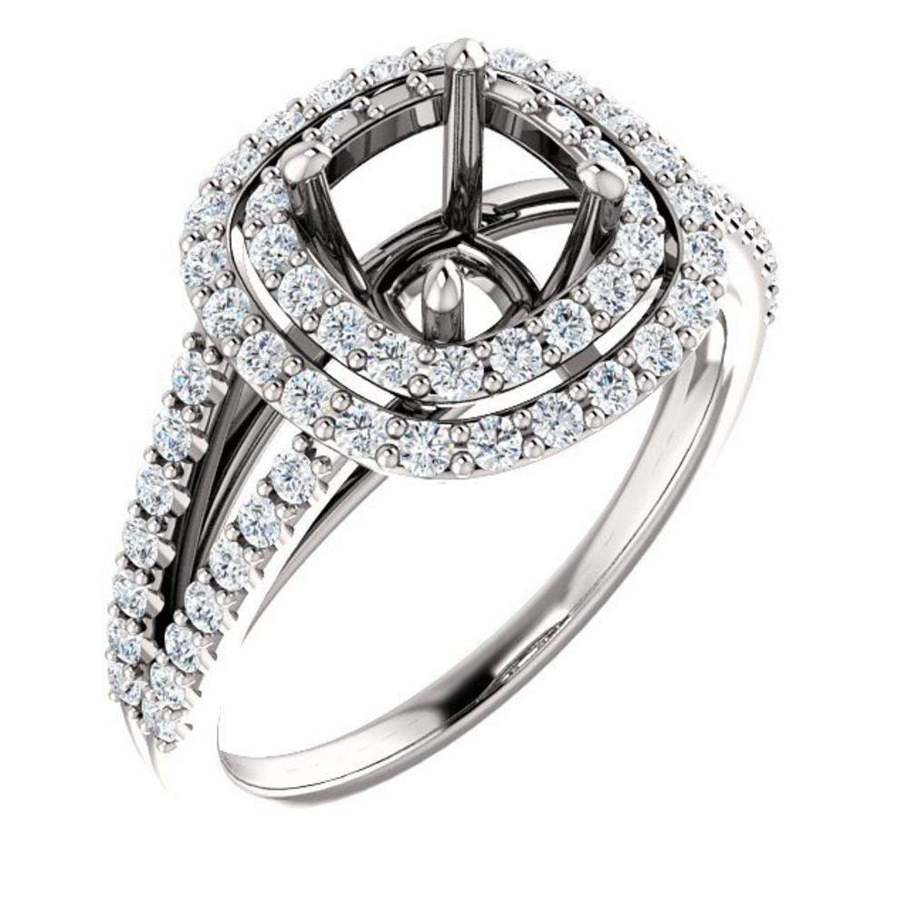 Engagement Rings Chicago: 0.69ctw Halo Engagement Ring 122101-498