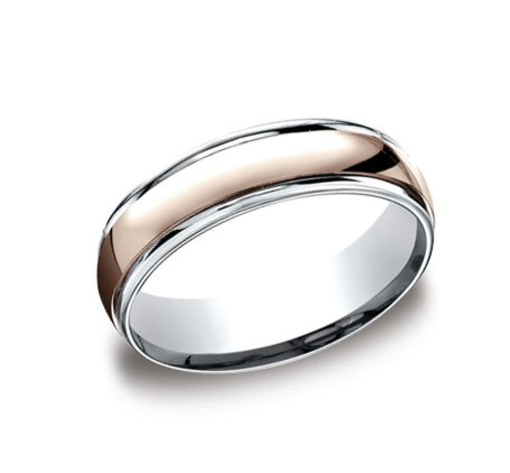 This is a picture of Mens Two Tone Gold Wedding Band CF40