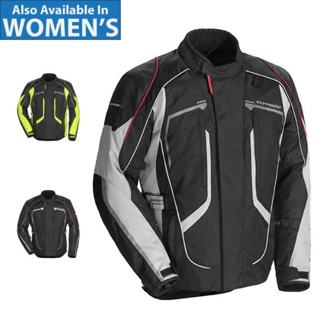 X-Large Tour Master All Season Mens Armored Pivot Motorcycle Jacket with Removable Waterproof Thermal Liner Hi-Viz//Black