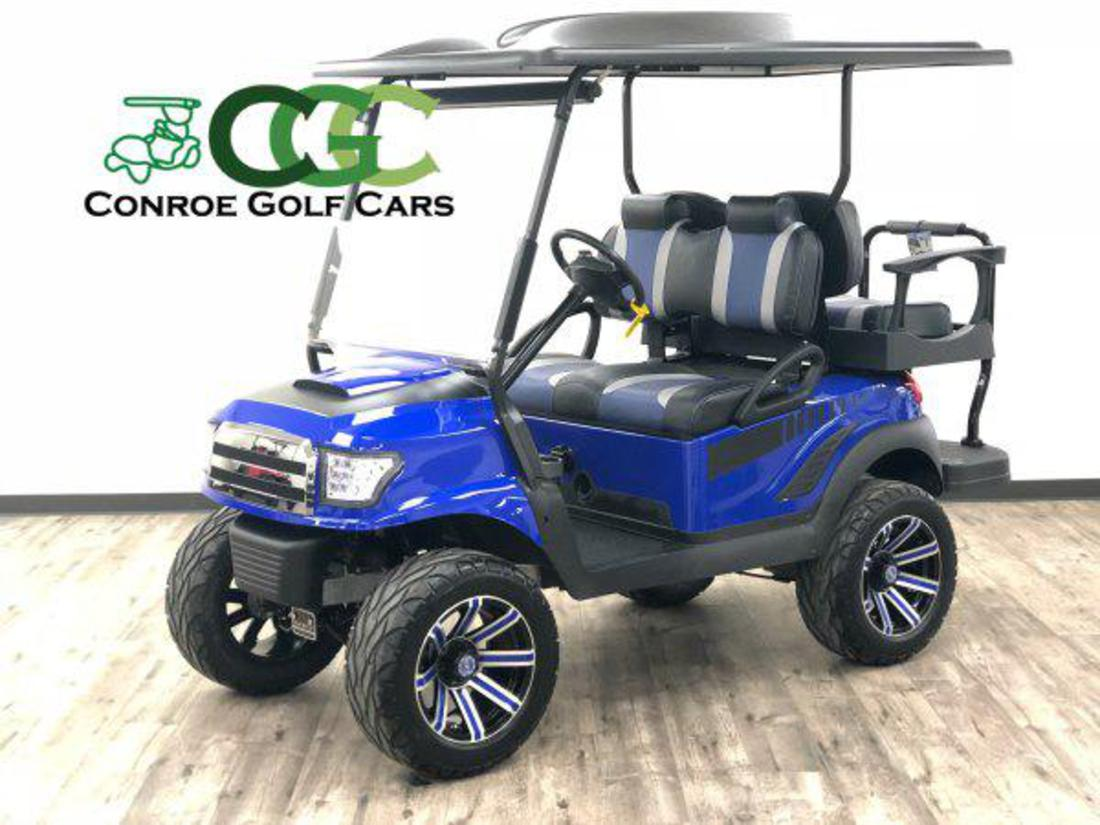 Conroe Golf Cars Lifted Golf Cart