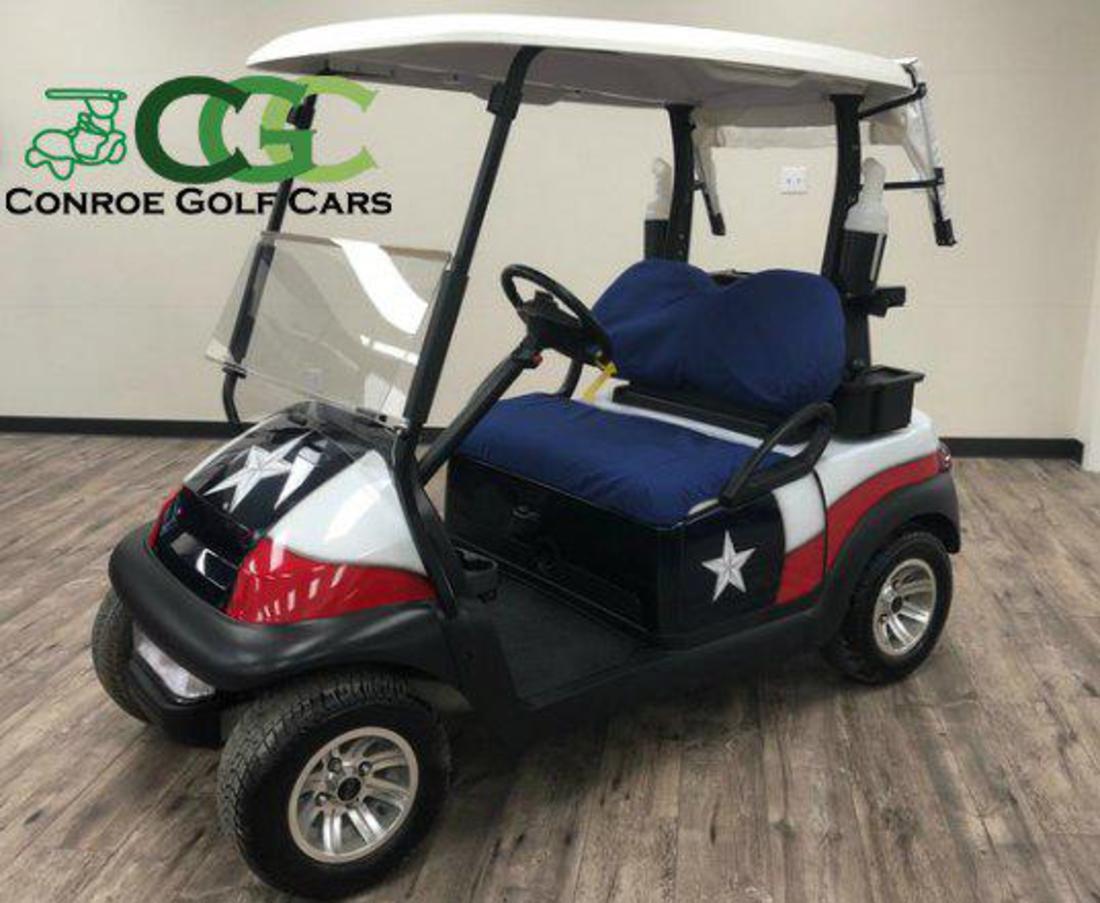 Conroe Golf Cars 2015 Club Car Precedent Texas Flag