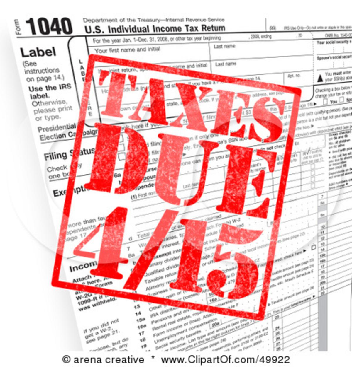 APRIL 15th TAXES AND TRIUMPH