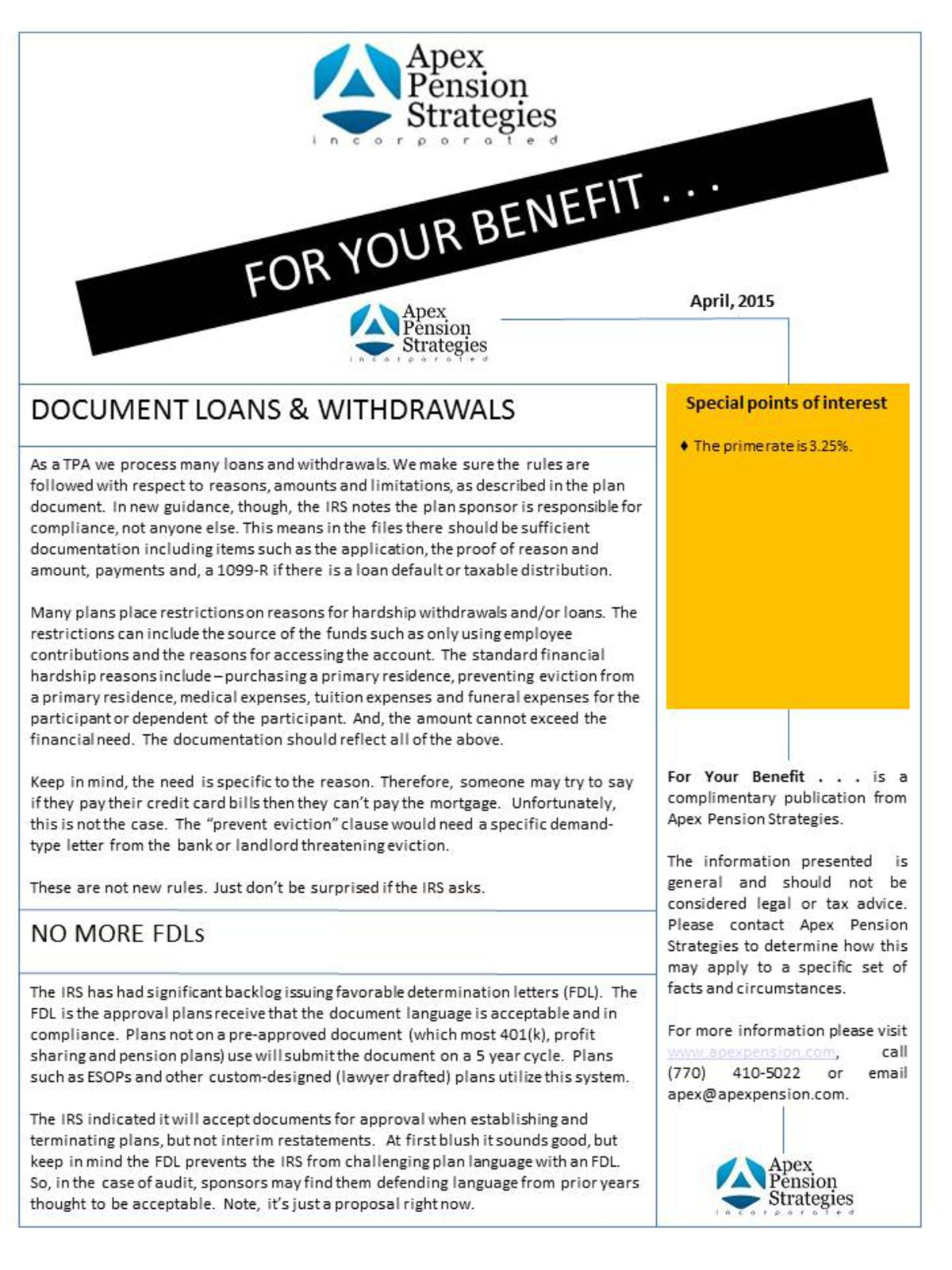 Document Loans & Withdrawals