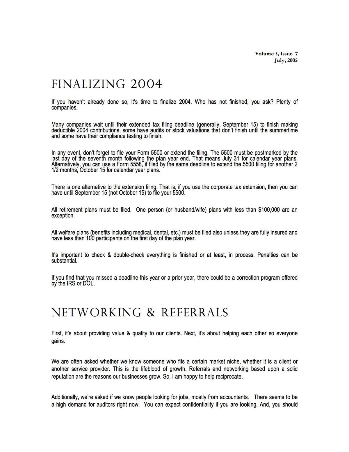 Networking & Referrals