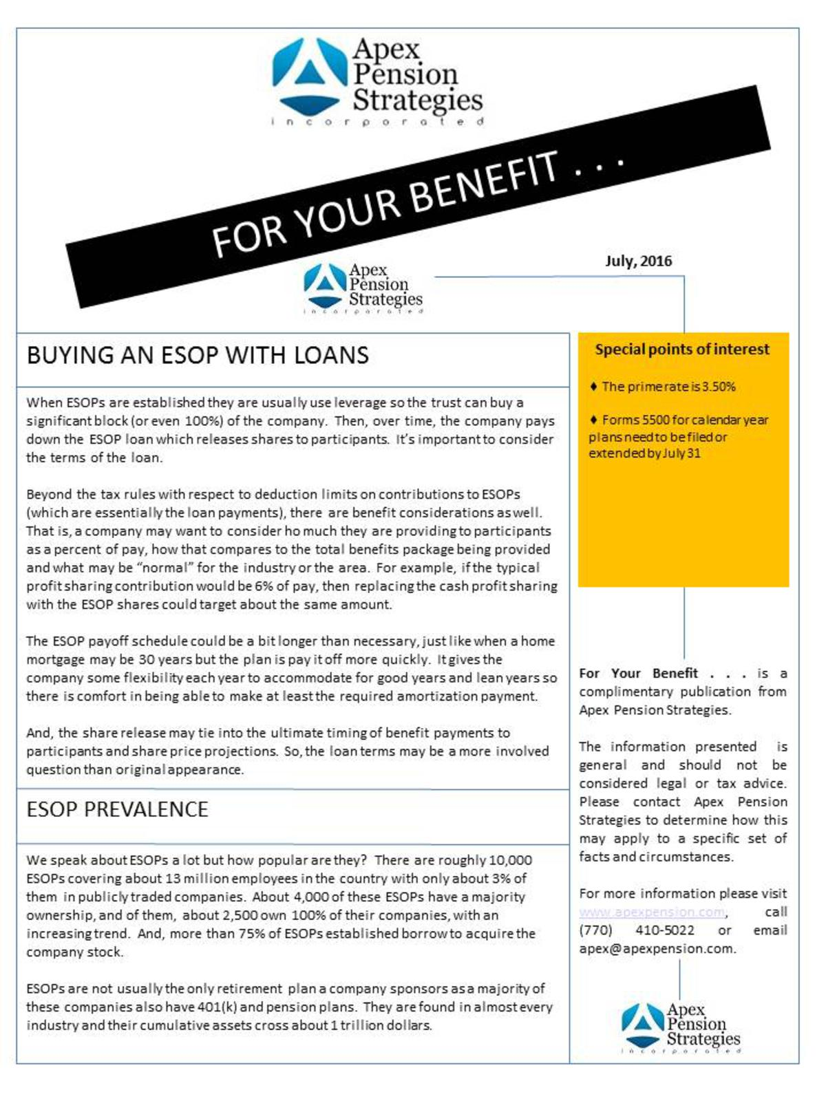 Buying an ESOP with Loans