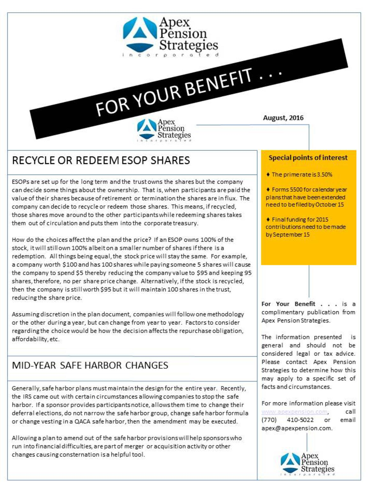 Recycle or Redeem ESOP shares