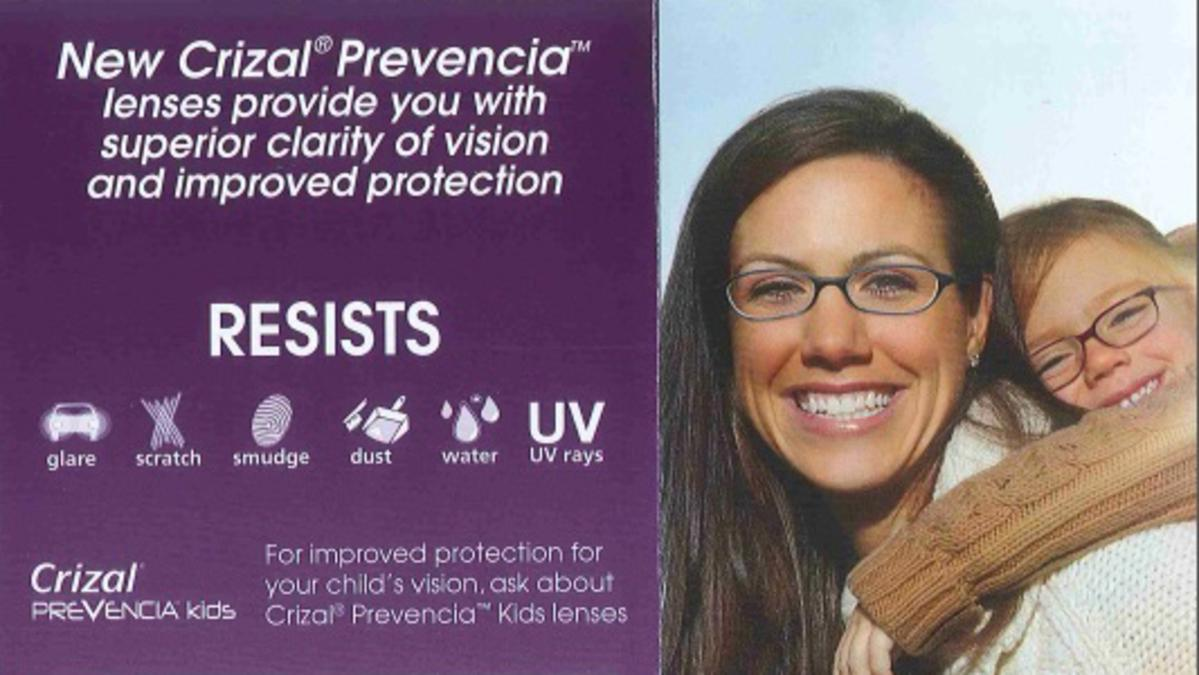 Crizal Prevencia - Glasses Lenses That Protect!